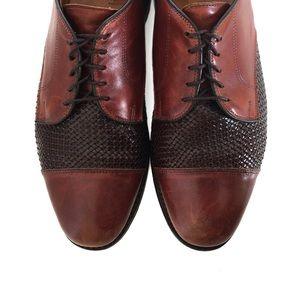 Allen Edmonds Brown Cap Toe Oxford Dress Shoe 9.5